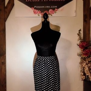 NEW Rampage black & white dotted skirt